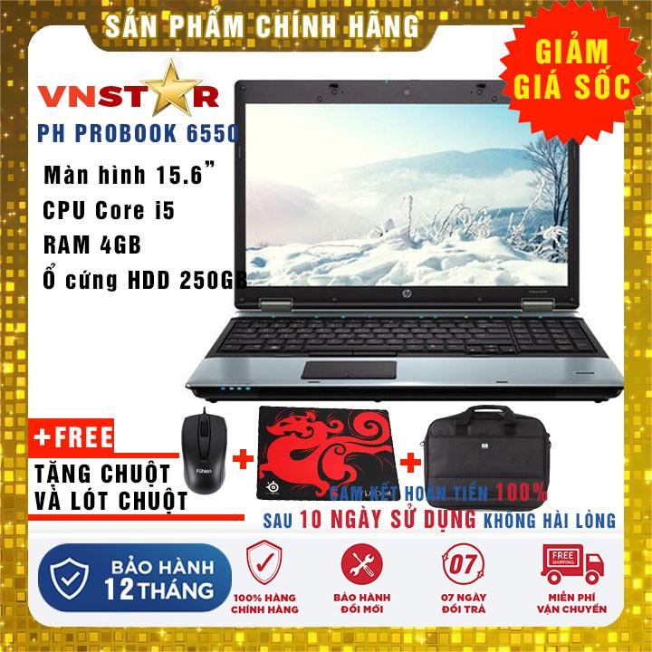 Laptop HP 6550 - Core i5, Ram 4G, HDD 250Gb, 15.6 inch - Hàng nhập khẩu