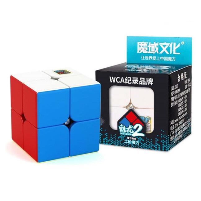 Rubik 2×2 Stickerless MoYu MeiLong MFJS Rubik 2 Floor Magic Cube