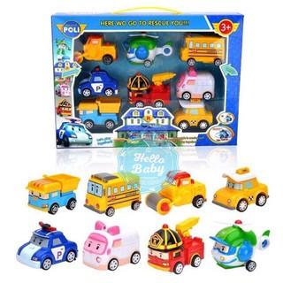 Hộp 8 xe Robocar Poli và những người bạn