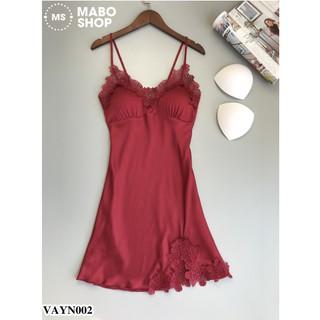 Váy ngủ lụa VAYN002 cao cấp có mút ngực