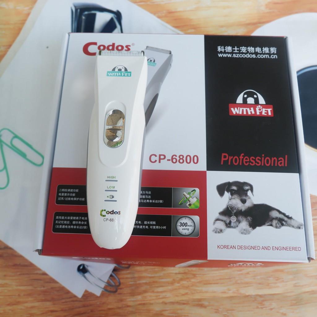 (Bảo hành 6 tháng 1Tông Đơ Chuyên Dụng Cắt Lông Chó Mèo Codos CP-6800 (hanpet 399)