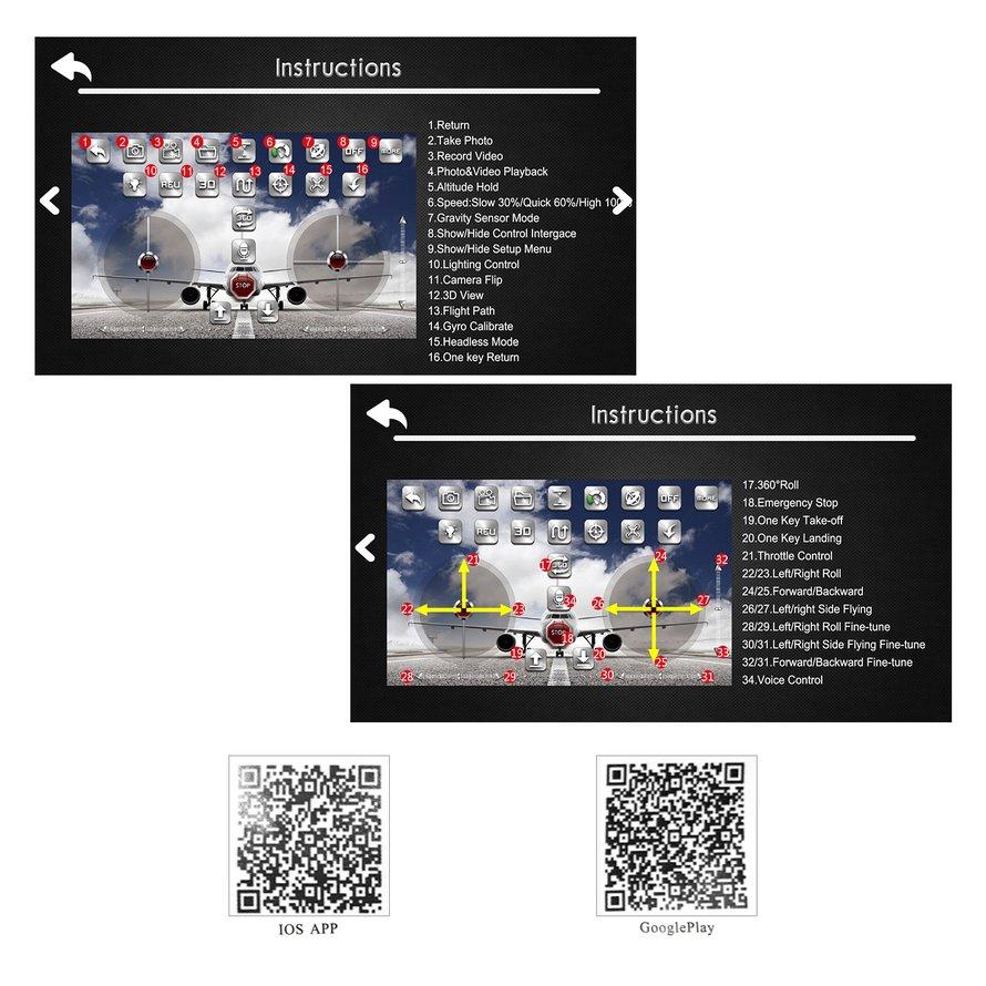 Drone X8 với quay hồi chuyển động , có thể điều chỉnh , kích thước