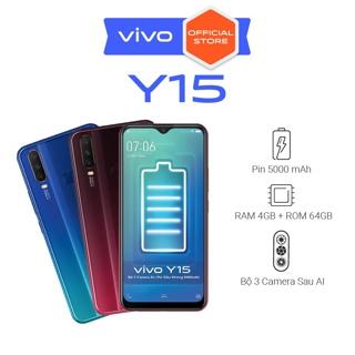 """[Nhập ELVIVOSEP giảm 100K đơn từ 2TR]  Điện thoại Vivo Y15 4Gb + 64Gb - Hàng Chính Hãng giá chỉ còn <strong class=""""price"""">277.000.000.000đ</strong>"""