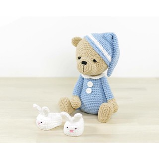 Gấu ngủ xanh lam – Toys made by The Bunny