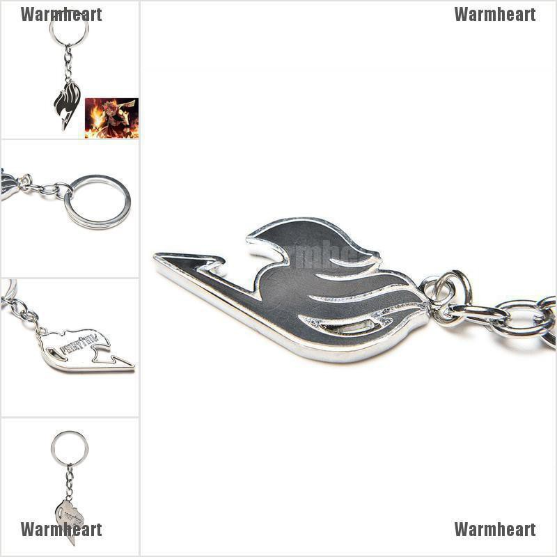 The Union Flag Silver Keyring 1PC for Anime Fairy Tail Keychain Natsu Guild VN