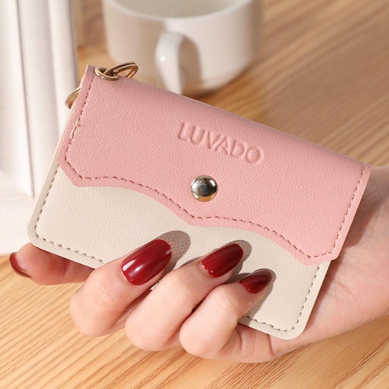 Ví nữ nhỏ gọn bỏ túi mini cầm tay cao cấp đẹp giá rẻ đựng tiền cute dễ thương LUKAMO VD519