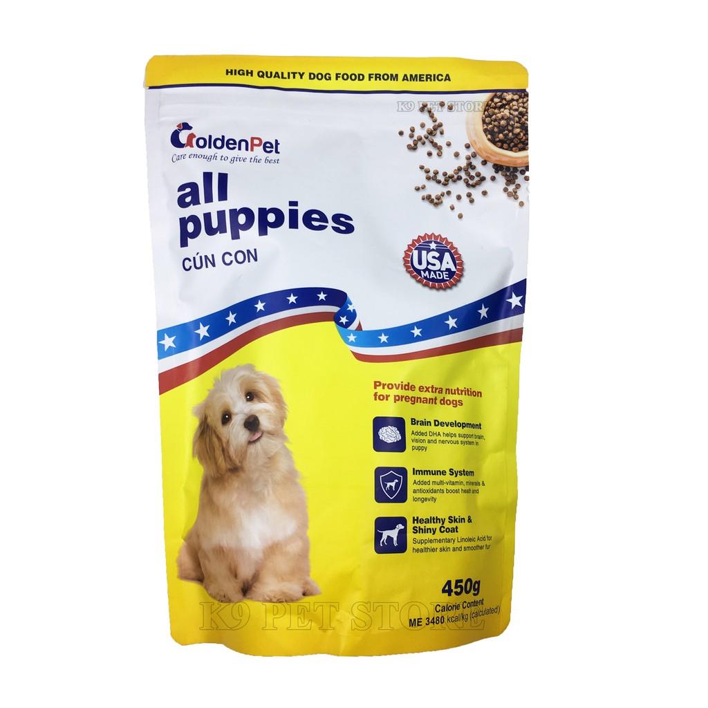 Kết quả hình ảnh cho thức ăn hạt golden pet cho chó con