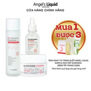 Bộ 3 sản phẩm Nước thần, Huyết thanh, Kem dưỡng mờ nám, dưỡng trắng Angel Liquid Glutathione Plus Niacinamide thumbnail