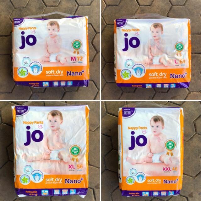 Tã quần JO trẻ em size M72, L64, XL56, XXL48