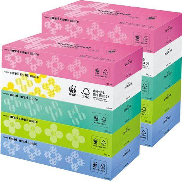 Set 5 hộp giấy ăn nepia hình hoa Hàng Nhật