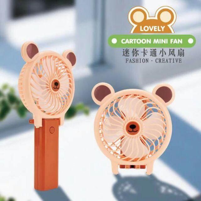 Quạt điện cartoon mini