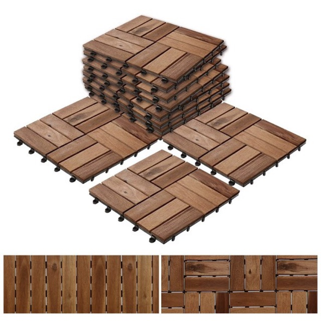 [EDEN] Ván sàn gỗ tự nhiên vỉ nhựa EDEN CLICK-ON tự lắp ráp ngoài trời