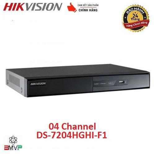 💚 Đầu ghi hình 4 kênh Turbo HD 3.0 Hikvision DS-7204HGHI-F1 - Hàng chính hãng
