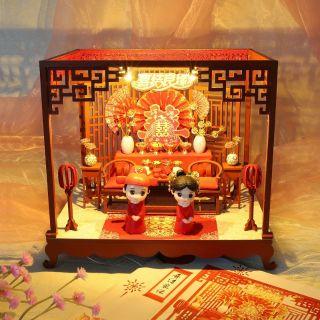 Kèm Mica và búp bê – Mô hình nhà gỗ búp bê Dollhouse DIY – J012 Happy Marriage