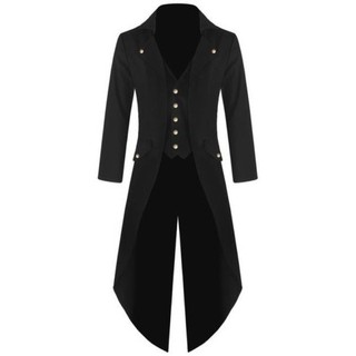 Mens Steampunk Tailcoat Jacket Frock Coat Tops SFGHOUSE