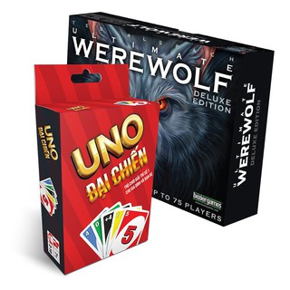 [Nhập mã TOYJUNE giảm 10K]FREESHIP ĐƠN 99K_Combo Uno Đại Chiến + Ma sói Ultimate Delu