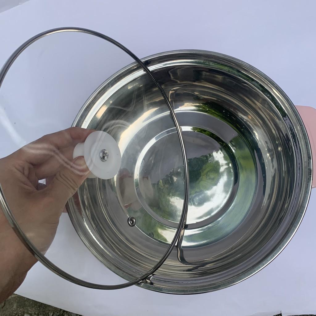 Nồi lẩu điện mini 24cm NIKAI công suất 1000W Inox 304