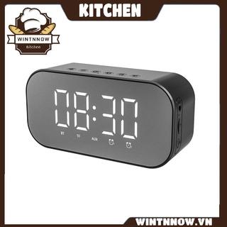 S5 Standard Edition Alarm Clock Gift Wireless Speaker Mirror Brightness Clock