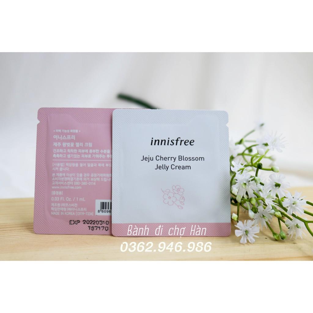 Sample Kem Dưỡng Ẩm Dạng Gel Innisfree Jeju Cherry Blossom Jelly Cream (Gói 1ml)