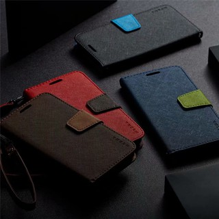 Bao Da Điện Thoại Nắp Lật Hai Màu Cho Oppo Realme 7 Narzo20 Pro V5 Q2 C11