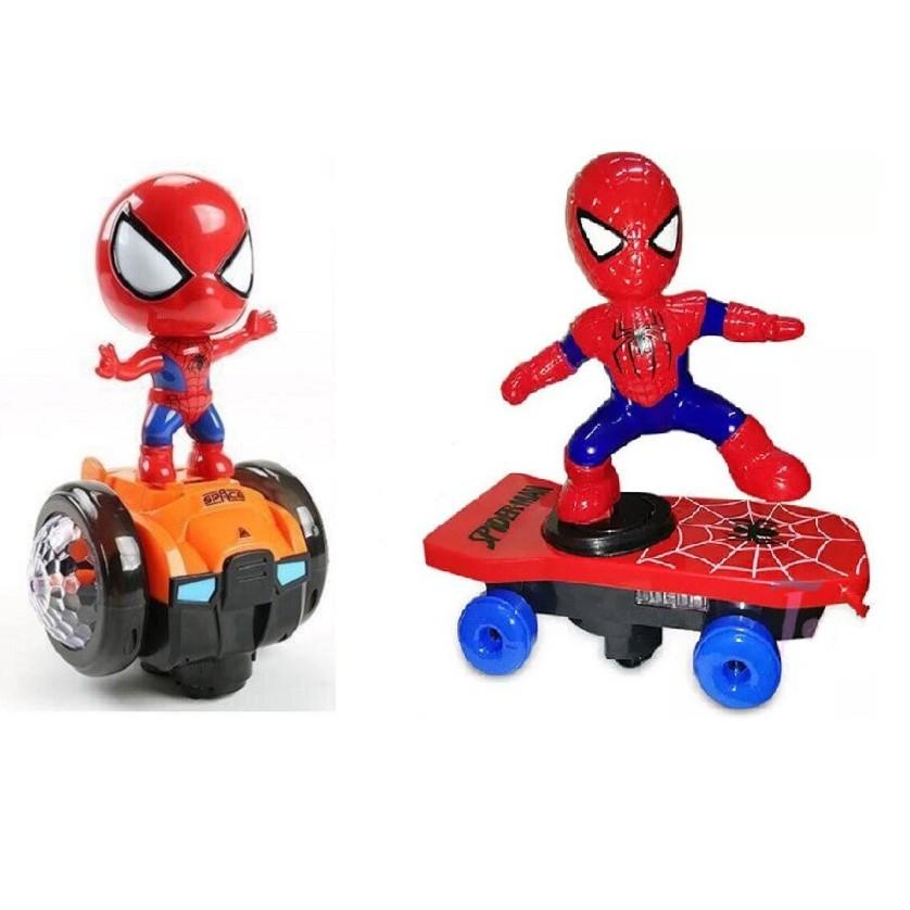 COMBO 2 siêu nhân nhện Xoay và lướt ván