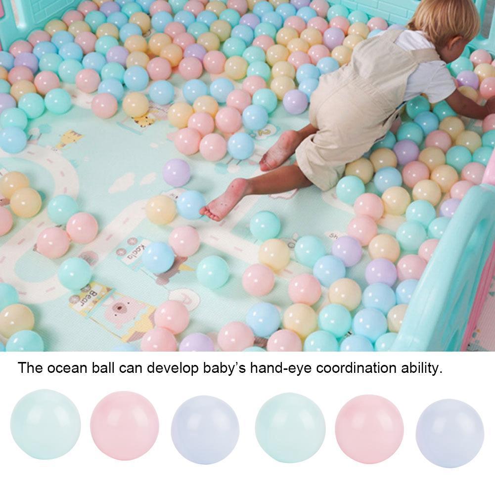 100Pcs Colorful Ocean Ball Soft Plastic Sea Balls Kid Toy