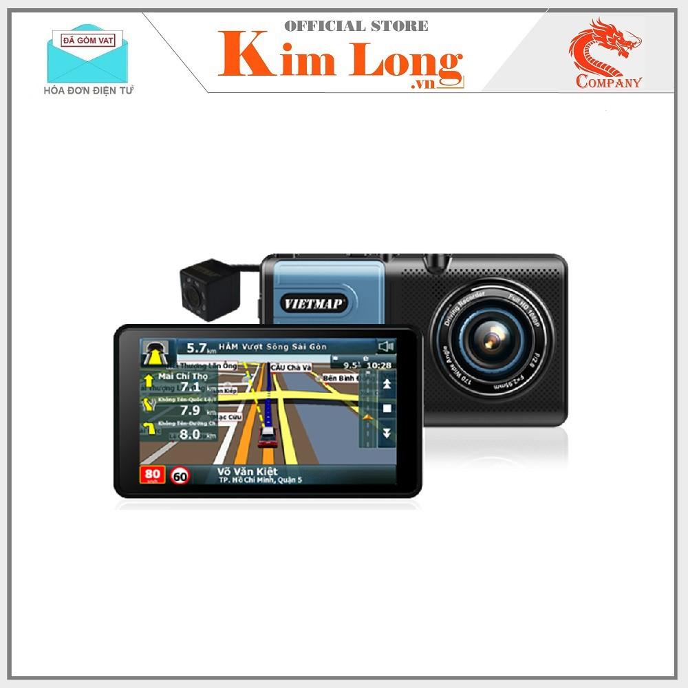 Camera hành trình Vietmap A50 ghi hình trước sau kiêm dẫn đường + kèm thẻ - Chính hãng