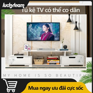 ST22 Tủ TV kệ tivi màu trắng có thể co giãn độ dài khoảng từ 90-120cm luckyteam0703734608