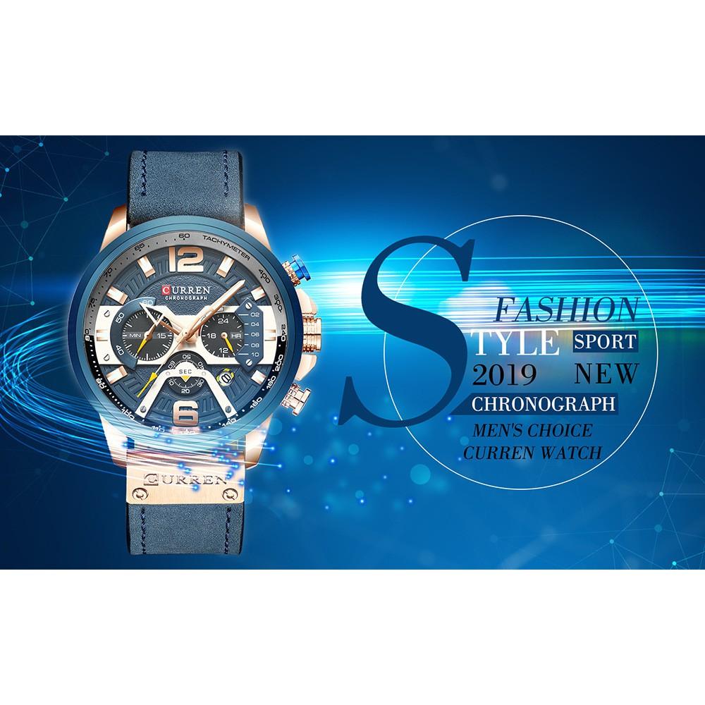 Đồng hồ kim nam Curren 8329 thời trang dây da cao cấp cá tính