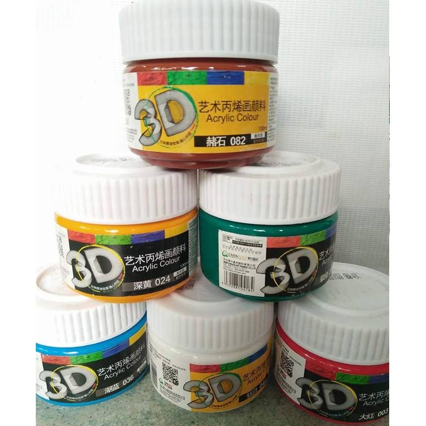 MÀU ACRYLIC 3D LOẠI 100ML ( ib shop để chọn màu )
