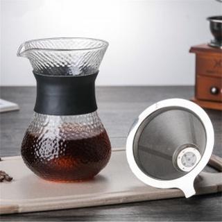 Bình pha cà phê nhỏ giọt bằng kính Ohfin V60 400ml có bộ lọc SE112 thumbnail