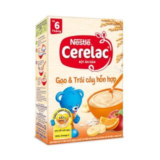 Bột ăn dặm Nestle Cerelac - Gạo & trái cây hỗn hợp (200gr) thumbnail