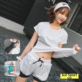 Set Bộ Quần Áo Thể Thao Nữ Slamp (3 màu) (Đồ Tập Gym, Yoga) II Cửa Hàng Kit Sport Việt Nam