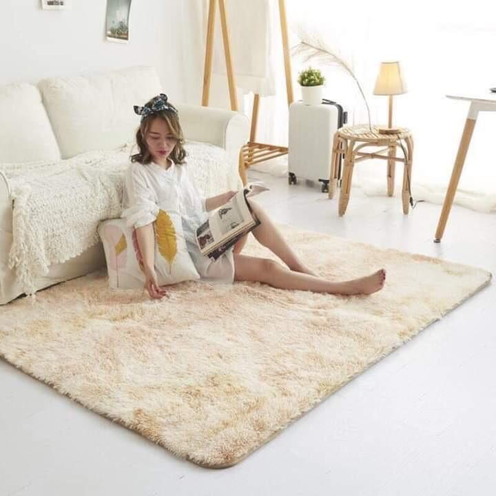 [XẢ KHo] Thảm lông loang decor phòng ngủ