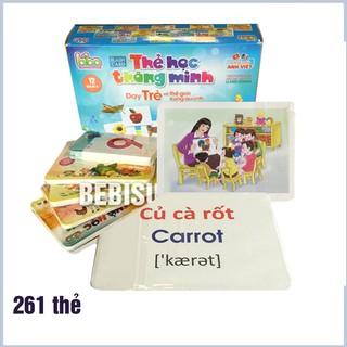 [Hot Sale] Bộ Thẻ Học Thông Minh 12 Chủ Đề Cho Bé Loại To (261 Thẻ) – [Hình Thật]