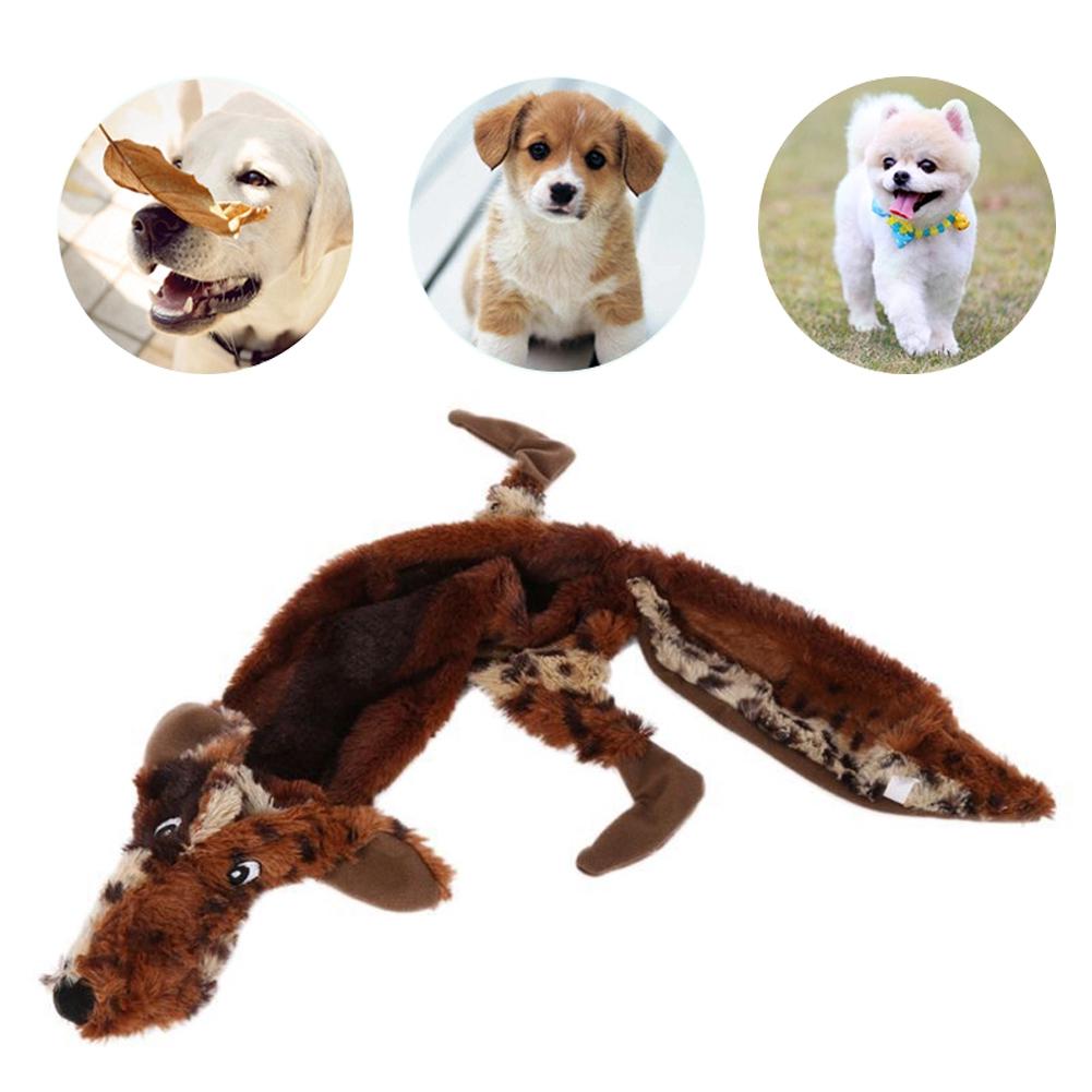 EMVANV Squeak Toy Rabbit Plush Wolf Squeaker Puppy Sound Play Chew Dog Pet Supplies(Rabbit)