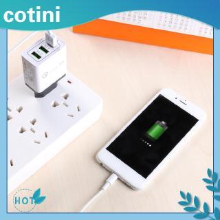 [Trong kho] ♠♠3 cổng Bộ sạc nhanh USB Điện thoại di động Bộ sạc tường QC3.0