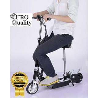 Xe trượt scooter điện E-Scooter 15km/h, tải trọng 80kg, 120w, có thể gập (Đen)