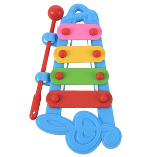 Ready Stock Child Hand knock piano Musical Instrument Wisdom Development, Blue