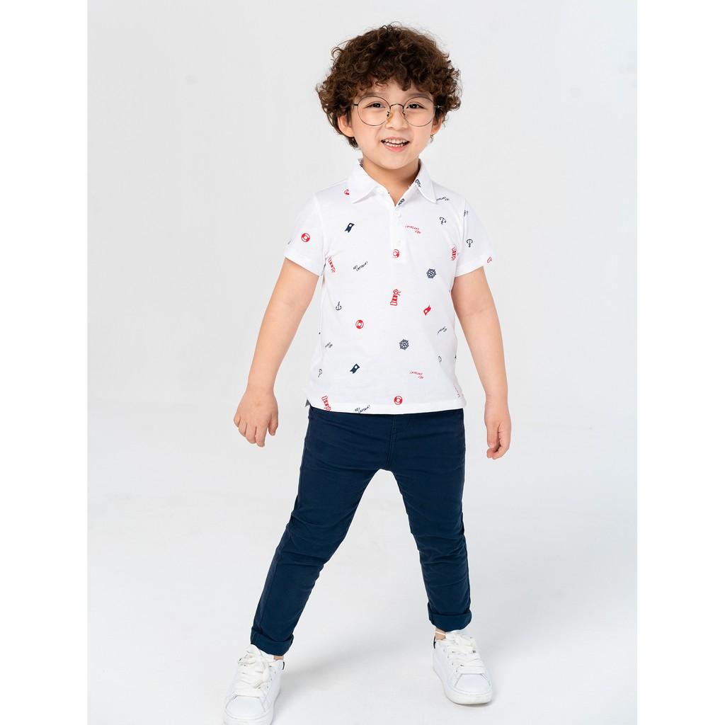 Áo polo bé trai họa tiết thời trang CANIFA - 2TP21S006
