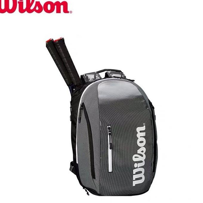 Balo Wilson Super Tour Black Grey Backpack Bag 2019, Balo Thể Thao, Balo Tennis,Balo Thời Trang