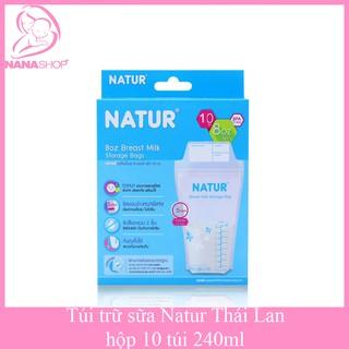 Hộp 10 túi trữ sữa NATUR 240ml