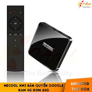 Android TV Box Mecool KM3 bản quyền Google , Ram 4GB,Rom 64GB cài sẵn bộ ứng dụng giải trí – KM3 Android TV 9