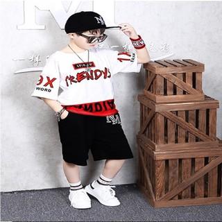 Set bộ quần áo trẻ em , áo thun bé trai in hình Trendy dành cho bé trai từ 18-28kg