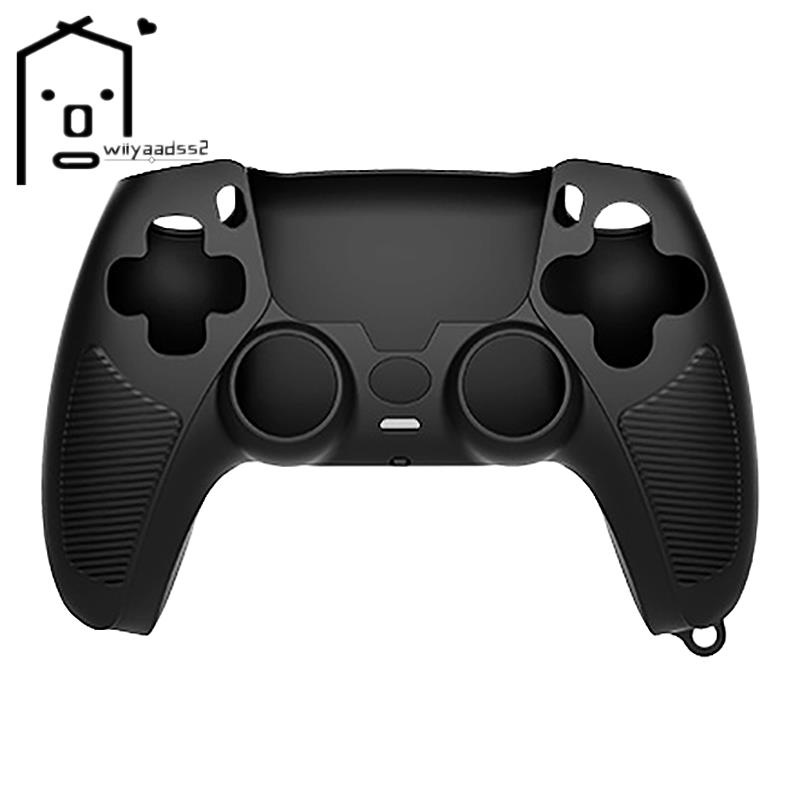 Handle Sleeve Silicone Case Dustproof Skin Anti-Slip Protective Cover for Sony PlayStation PS5 Controller Black
