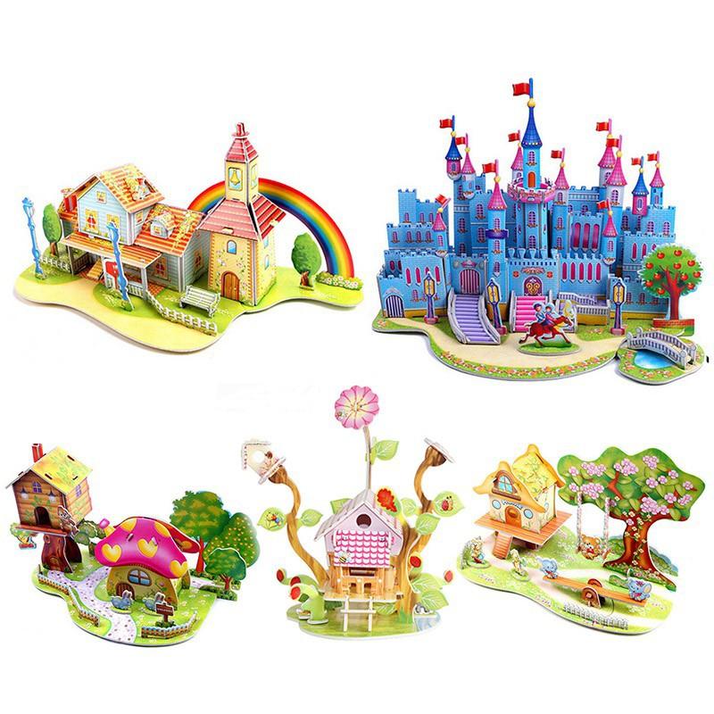 Xếp hình lâu đài 3D cho trẻ em