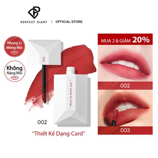 Son Môi Perfect Diary ReadMe Weightless Velvet Lip Stain Matte Cream Long-lasting Makeup 8 Shades 4g thumbnail