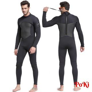 Bộ đồ lặn, quần áo lặn biển 3mm (BLACK) giữ ấm, thoáng khí, chống thầm nước cao cấp – POKI