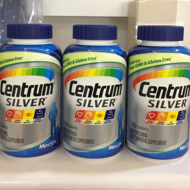 Vitamine tổng hợp Centrum Silver Men 50+ / Dành cho Đàn Ông lớn hơn 50 Tuổi - xuất xứ Mỹ - Date T8/2