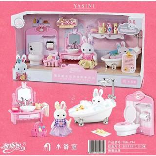 Bộ Búp Bê Nhà Thỏ Phòng Tắm YASINI – No.YSN-734
